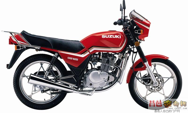 铃木 王 gs125 摩托车